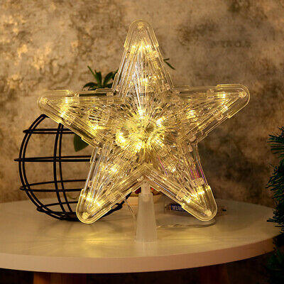 Christmas Tree Topper LED Lamp Xmas Battery Light Star Party Christmas for Tree