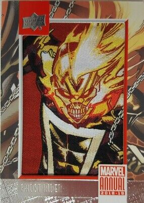 2018-19 Upper Deck Marvel Annual COMIC PATCH Card P - 1 GHOST RIDER