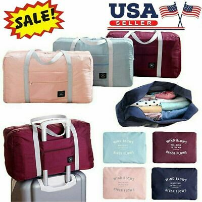 Waterpoof Foldable Travel Luggage Baggage Storage Carry-On Duffle Bag Portable