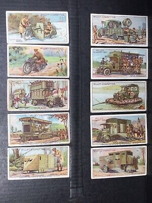 Military Motors Cigarette Cards 34 Of 50 Antique Wills Circa 1916