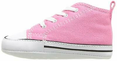 Kids Converse Girls First Star Fabric Hight Top Lace Up Fashion, Pink, Size 4.0