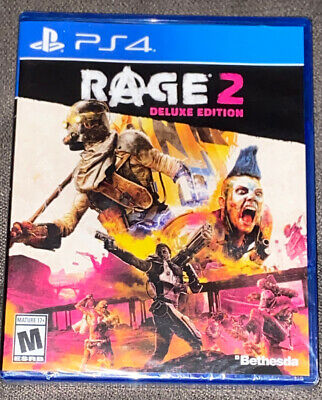 NEW Rage 2 Deluxe Edition (Sony Playstation 4, PS4, 2019) Sealed & Fast Shipping
