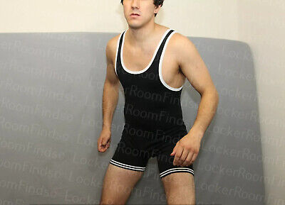 VTG Matman WRESTLING SINGLET Black Large tournament Vintage Old School  rare