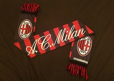 AC Milan Scarf BNWT Two Sided Official Merchandise Shirt
