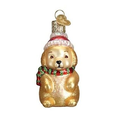 Old World Christmas Dog Collection- Glass Blown Ornament: Winter Puppy