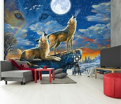 Gray Wolf in Winter Wallpaper Mural Photo 12013462 budget paper