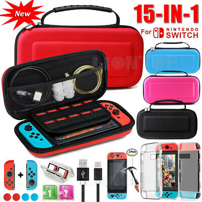 15-in-1 Protective Case+Cover+Screen Protector Accessories For Nintendo Switch