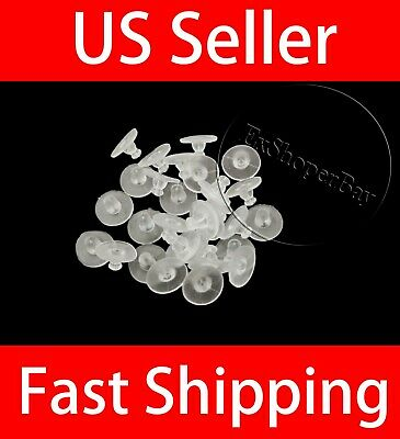 50pcs Clear Rubber Earring Backs Sleeves Holder Stopper Soft Nut Silicone US