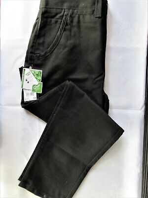 Boys School Trousers By Next Chino's Size 9+ Years, Colour Black New With Tags