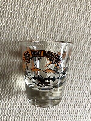 Great Smoky Mountains Shot Glass Tennessee Souvenir