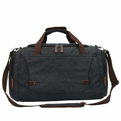 Toupons Travel Bags for Men Duffle Bag Canvas Weekend Travel Duffel Bag  (Black)