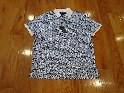 NWT Polo Ralph Lauren Mens Classic Fit Extra Large Polo Shirt - XL Floral - Silk