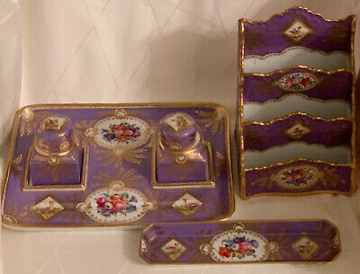 A gorgeous French porcelain writing set, late 19th century.
