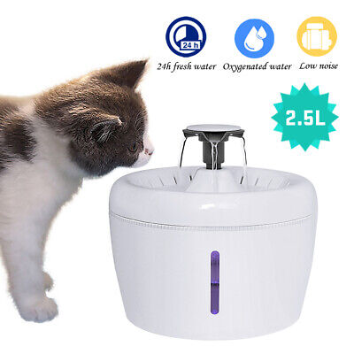 Automatic Pet Water Fountain for Cat Dog Eletric Water Drinking Dispenser LED