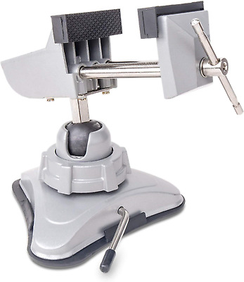 Hi-Spec Hobby Mini Suction Vacuum Table Vice with 360° Swiveling Head. 60mm Wide
