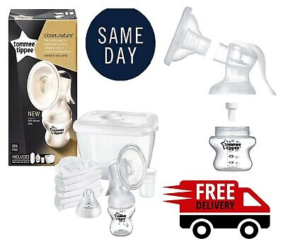 Tommee Tippee Manual Breast Pump Closer To Nature Portable - Bottle Pads New