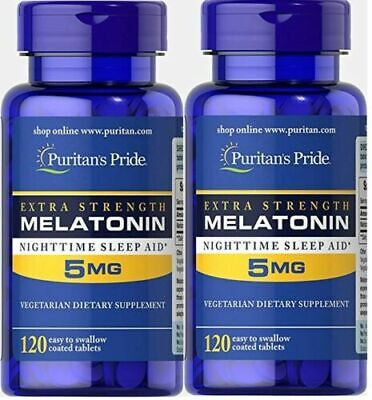 5MG x 240 Tablets Melatonin Melatonina INSOMNIA SLEEPING PILLS- FREE POSTAGE !!!
