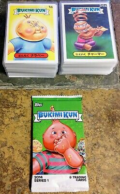 GPK BUKIMI KUN Complete 132 BASE Card Set + ONE UNOPENED PACK Japanese Foreign