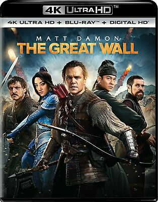 The Great Wall, 4K Ultra HD,  Blu-ray, and Digital, Brand New Sealed!!!