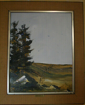 """Open Fields"", Fernand Labelle Oil on Canvas with Inscription - 1979"