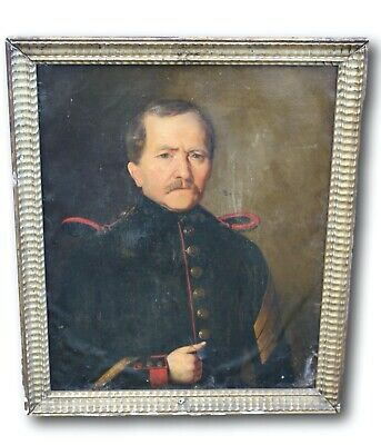 Antique Original 19th Century Portrait of French Officer
