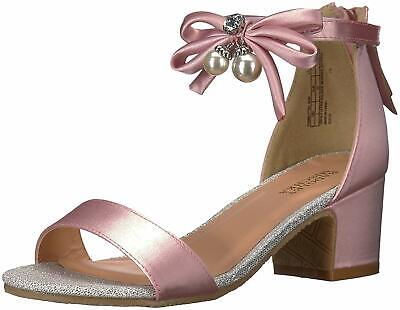 Badgley Mischka Kids' Pernia Pearl Bow, Pink/Silver,  Size Little Kid 2.0