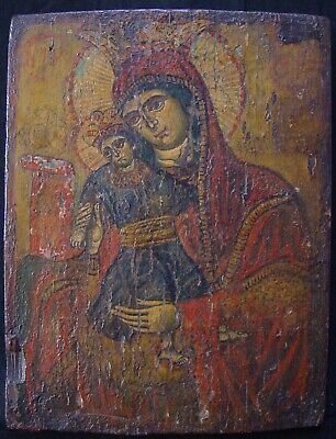 Large Old Russian Icons, Antique Greek Icons Icons Kykkos 18th C Greek