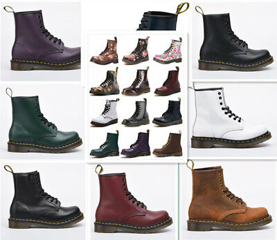 New Unisex Dr Martens 8-Eye Classic Airwair 1460 Leather Canvas Ankle Boots