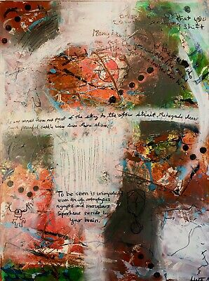 """Intricate Informel Outsider Painting 24"""" X 18"""""""