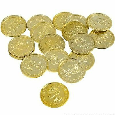 25 Gold Play Coins Treasure Birthday Party Favors Loot Kid Pirate Pinata Toy