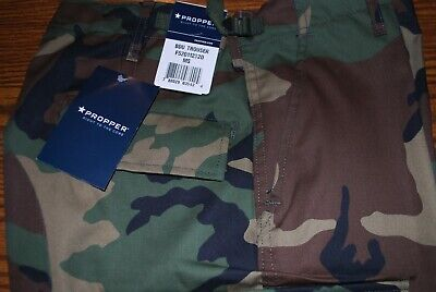 Propper F520112320 BDU Woodland Camo 60/40 Cotton/Poly Button Fly Trouser