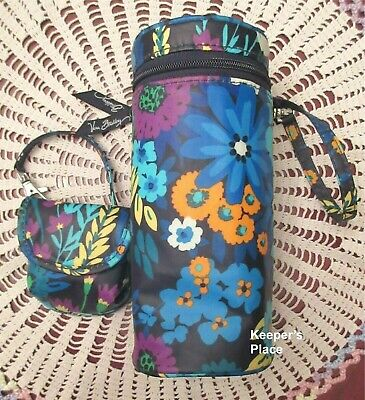 Vera Bradley MIDNIGHT BLUES Baby Bottle Caddy And Pacifier Holder