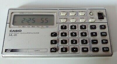 Casio Ml-81 Electronic Calculator & Clock With Sounds