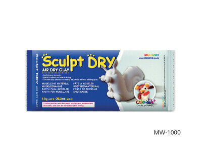 Air Drying Modelling Clay for Art & Craft in White 1 kg