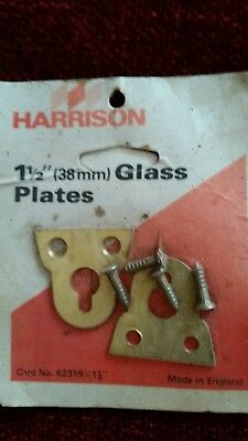 """Harrison Glass Mirror Plate Standard Fixing Mirrors Pictures Vintage 28mm 1 1/2"""""""
