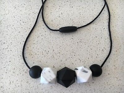 Silicone Sensory (was teething) Necklace for Mum Jewellery Beads Aus Marble