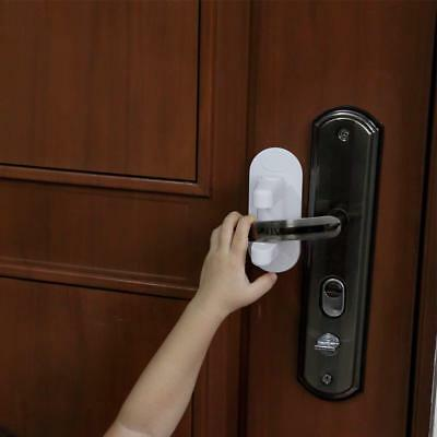 Door Lever Lock (2 Pack), Child Proof Doors, Handles 3M Adhesive - Child Safety-