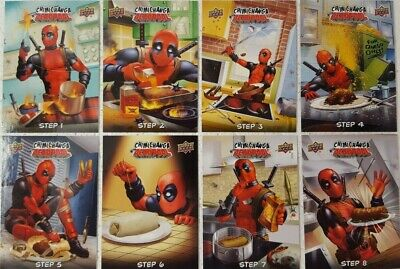 2019 Upper Deck Deadpool Trading Card CHIMICHANGA With DEADPOOL Set of 8