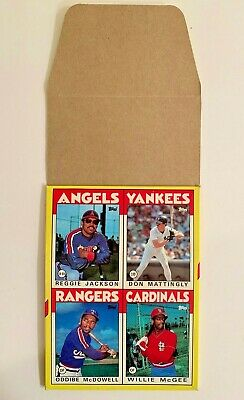 1986 TOPPS BASEBALL DISPLAY BOX #3 Rose Mattingly Jackson McGee McDowell Rare