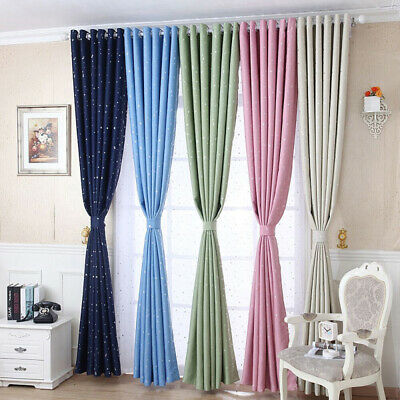 Blackout Heavy Thick Grommet Window Curtain Panel Bedroom Living Room Lined BDA
