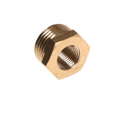 """3/8"""" BSPT Male * 1/8"""" Female NPT Adapter Brass Pipe Fitting Reducing Bushing T-G"""