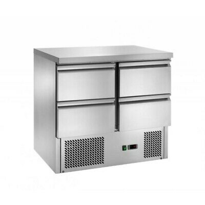 Refrigerated Saladette Am with Floor Stainless Steel - 4 Drawers