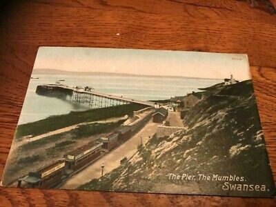 Mumbles   The Pier  Swansea  Wales     Old Postcard  1908