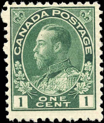 Canada Mint 1911 F+ Scott #104 1c Admiral King George V Stamp Issue Hinged