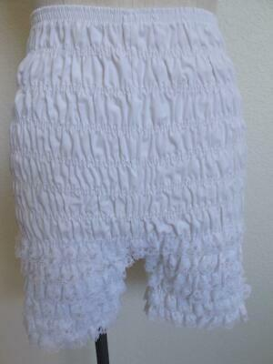 Vintage Malco Modes White Square Dance Pettipants S Ruffled Lace Smocked Panties