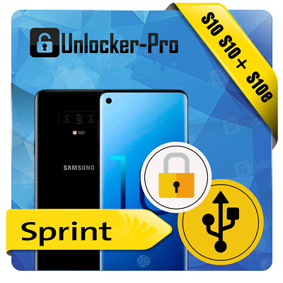 Samsung Sprint Boost Remote Carrier Unlock Service S10 S10e S10 Plus Android 10