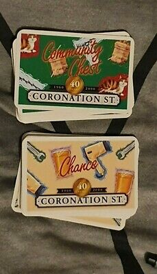 FULL SET OF MONOPOLY CORONATION STREET CHANCE AND COMMUNITY CHEST CARDS 2000  v2
