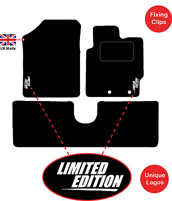 Carsio Tailored Black Carpet Car Mats for 4 Series Coupe F32-4 Piece Set with 2 Velcro Clips