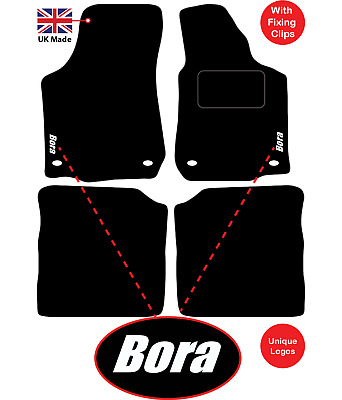 Volkswagen Passat B6 2005 to 2007 Tailored Car Mats With Unique logos 4 Clips