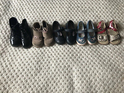 Girls Boots Shoe Bundle Size 8 Eu 26 M&S Clarks TU 5 Pairs